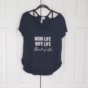 Black mom life shirt